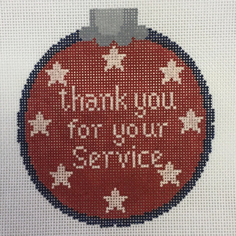 Thank you for your service - red