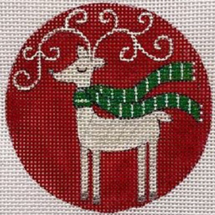Reindeer on Red