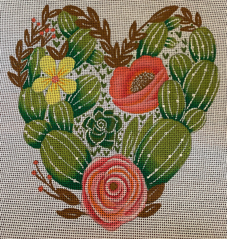Succulents and Floral Heart