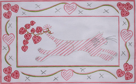 Jilly Walsh Running Kitty with Hearts