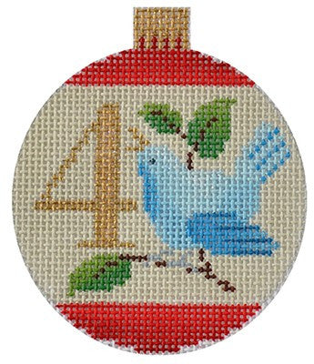 12 Days Bauble- 4 Calling Birds