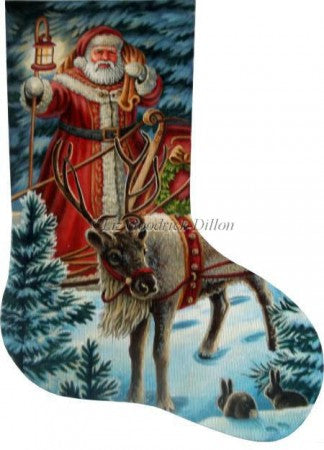 Night Time Greeting stocking