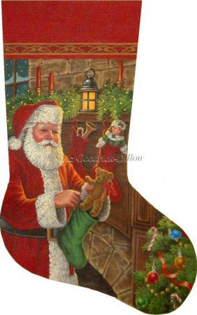 Santa Filling the Stockings stocking