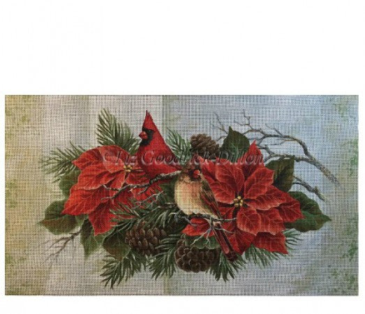 Cardinals in Poinsettias