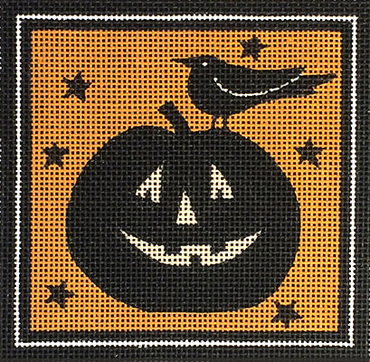 Halloween Ornaments: Pumpkin & Crow
