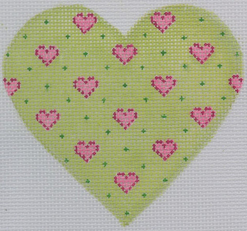 Baby Hearts Mini Heart - BeStitched Needlepoint
