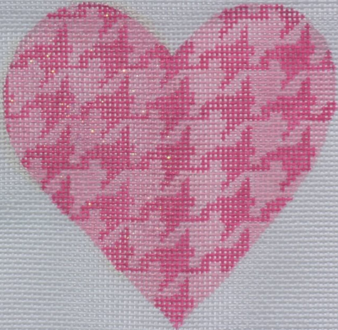 Houndstooth Mini Heart