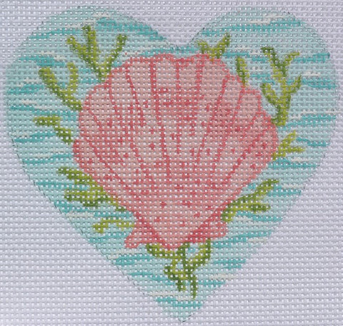 Scallop on the Sea Mini Heart