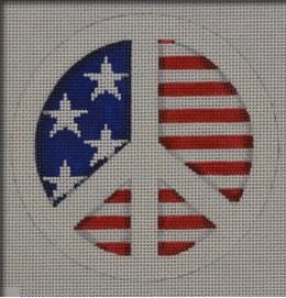 Patriotic Peace Sign