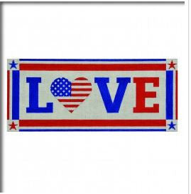 Love with Flag Heart