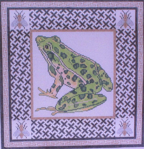 Frog with Bees in Border