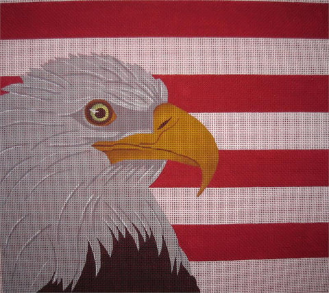 Eagle with Red & White Stripes