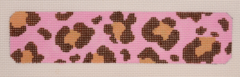 Pink/Brown Leopard Cuff - BeStitched Needlepoint