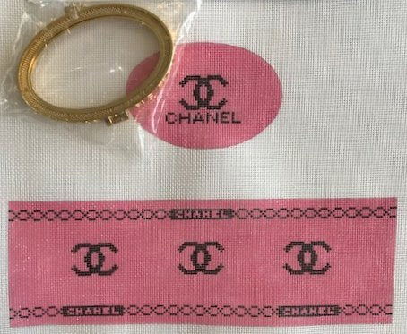 Pink Chanel Inspired Oval Hinged Box w/Hardware