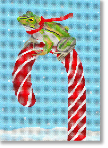 Frog & Candy Cane