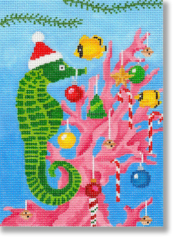 Seahorse Decorating for Xmas