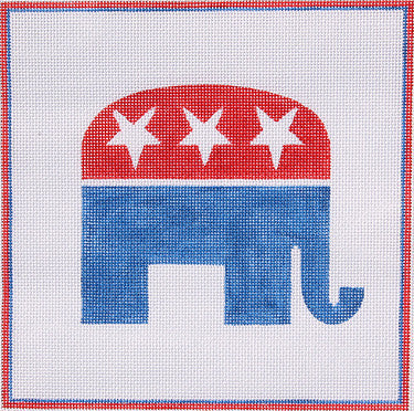 Red White & Blue Republican Elephant