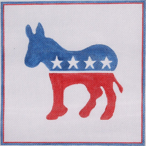 Red, White, and Blue Democratic Donkey
