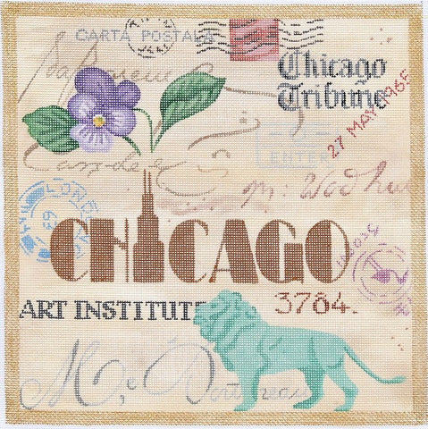 Chicago Collage - BeStitched Needlepoint