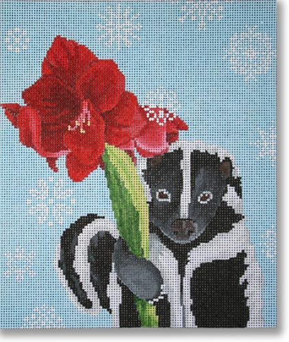 Skunk with Amaryllis