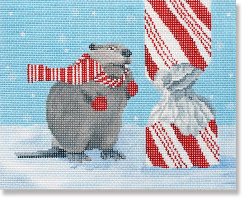 Beaver w/ Candy Cane