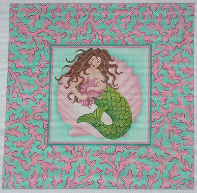 Mermaid w/ Coral Border