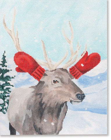 Elk w/ Red Mittens