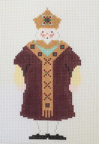 Portly King Santa - BeStitched Needlepoint