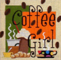 Coffee Girl - BeStitched Needlepoint