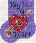 """Key To My Heart"" Mini Sock rg03"