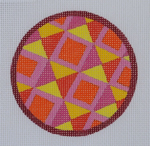Single Circle from Set Orange - BeStitched Needlepoint