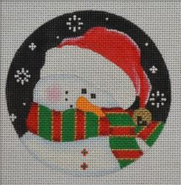 Shy Snowman, Red/Green Ornament