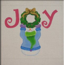 Joy Wreath Snowman