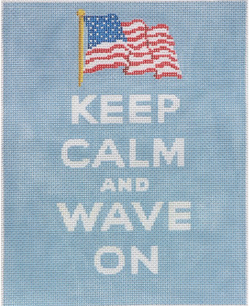 """Keep Calm... Wave On"" - BeStitched Needlepoint"
