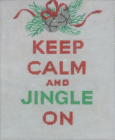 """Keep Calm & Jingle On"" - BeStitched Needlepoint"