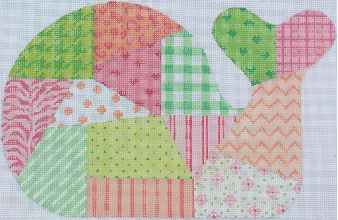 Medium Whale - Patchwork - sherbet palette