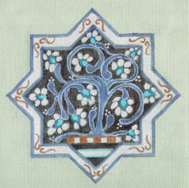 Tuscan Tiles - Star, Blues