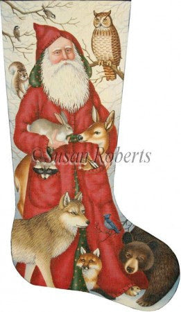 Santa & Woodland Animal stocking