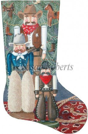 Cowboy Nutcracker stocking