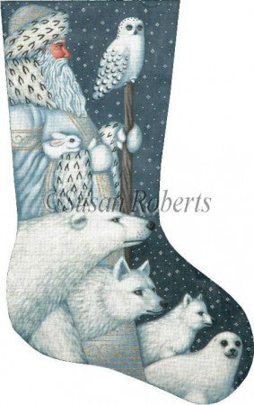 Arctic Santa stocking