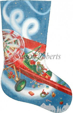 Flying High Santa  (Pilot) stocking