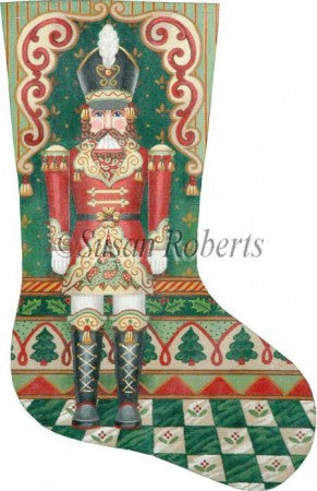 Nutcracker Christmas stocking
