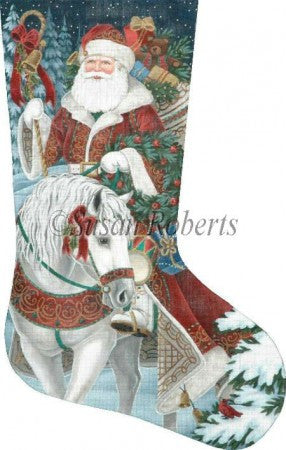 Santa On Horseback stocking