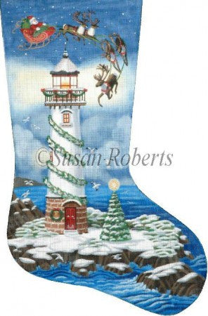Santa Lighthouse stocking