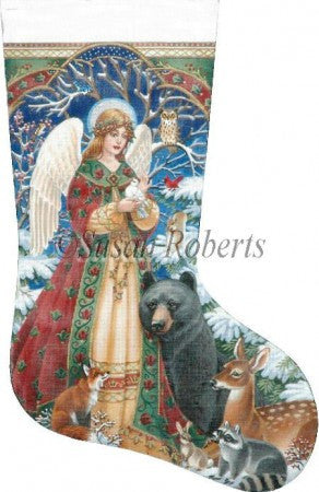 Woodland Angel  stocking