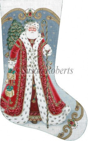 Elegant Santa stocking