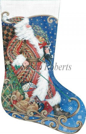 Sledding Santa stocking
