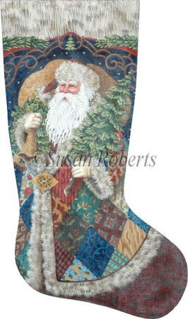 Patchwork Santa stocking