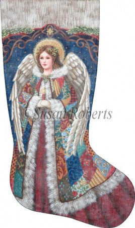 Patchwork Angel stocking