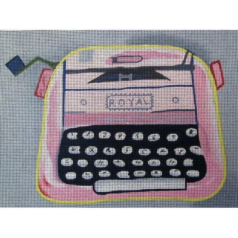 70631 - PINK & GREY ROYAL TYPEWRITER
